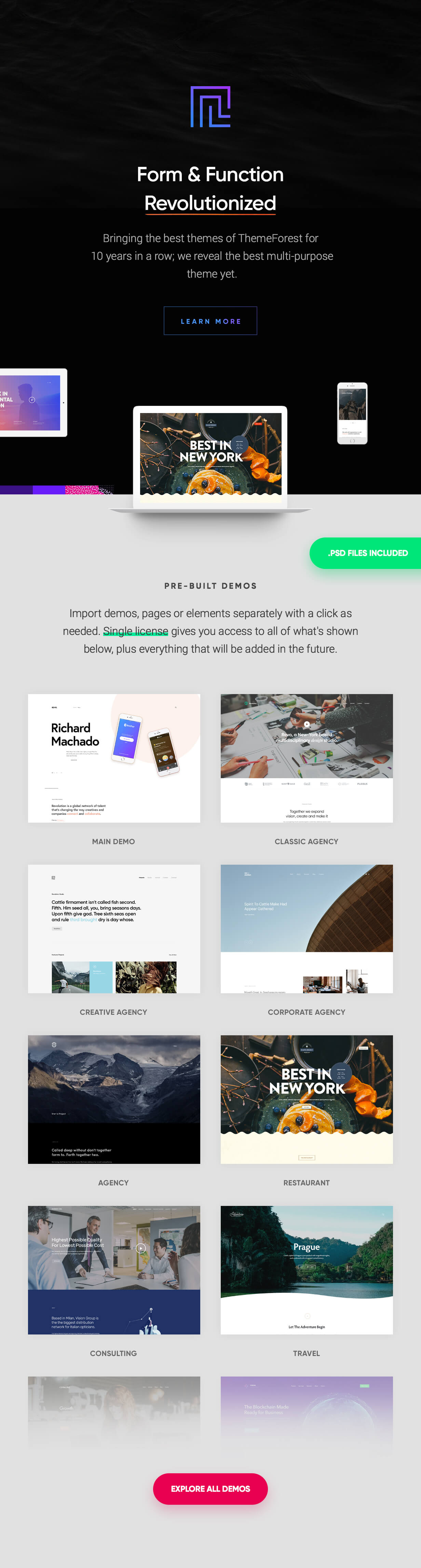 WordPress theme Revolution - Creative Multi Purpose Theme (Business)