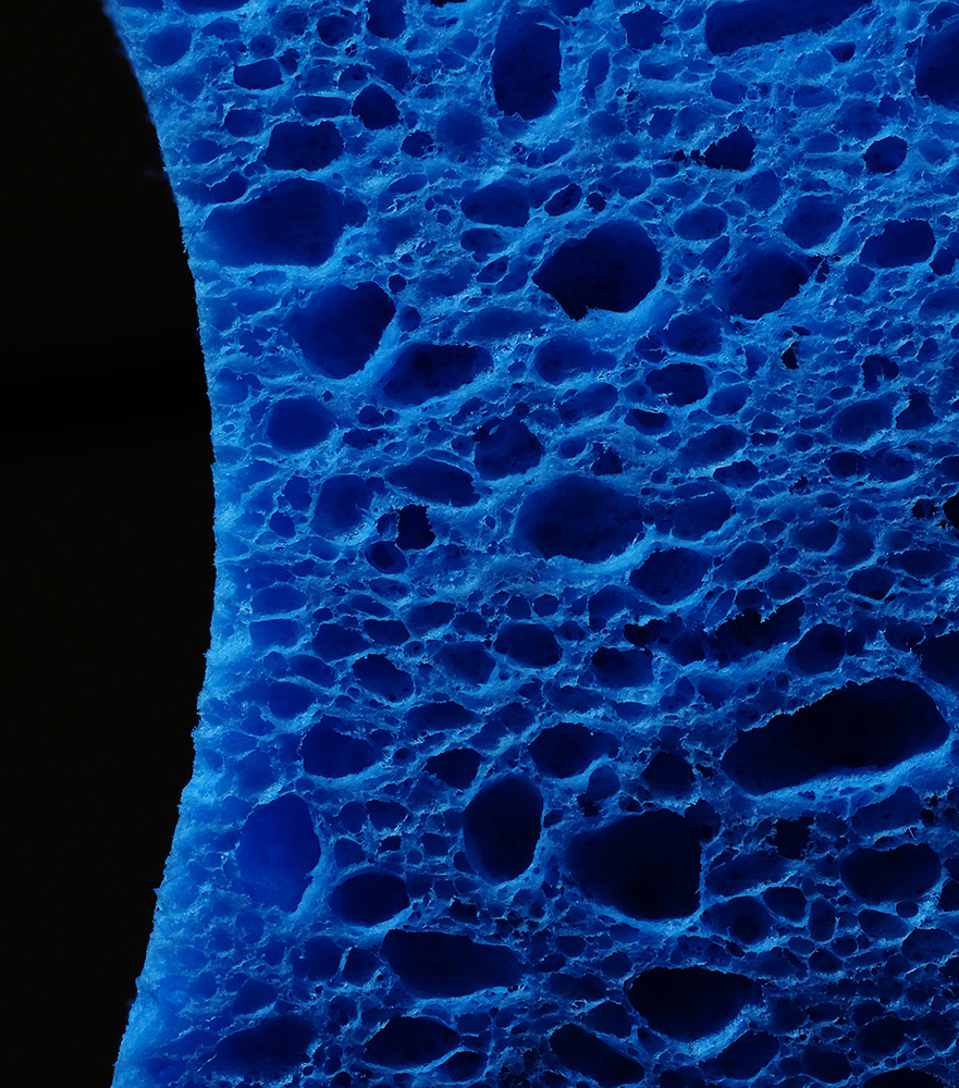 Detail of a kitchen sponge