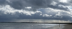 Panorama of storm at Queenscliff, Victoria.
