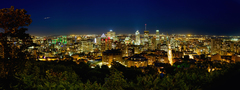 Downtown Montreal Skyline at Night (Panorama)