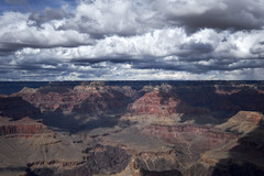 Clouds rolling over Grand Canyon
