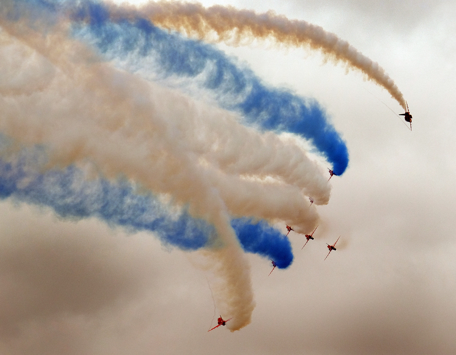 Red Arrows at Scampton.