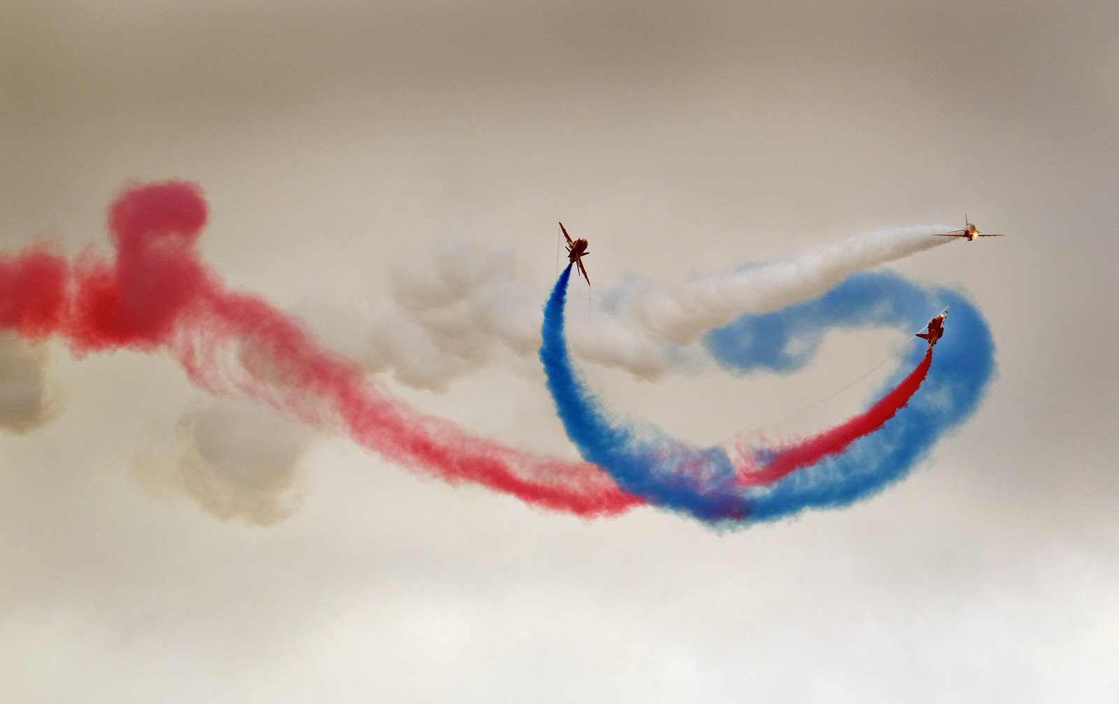The Red Arrows in action.