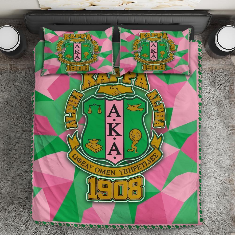 Alpha Kappa Alpha Logo Bedding Set All Over Printed