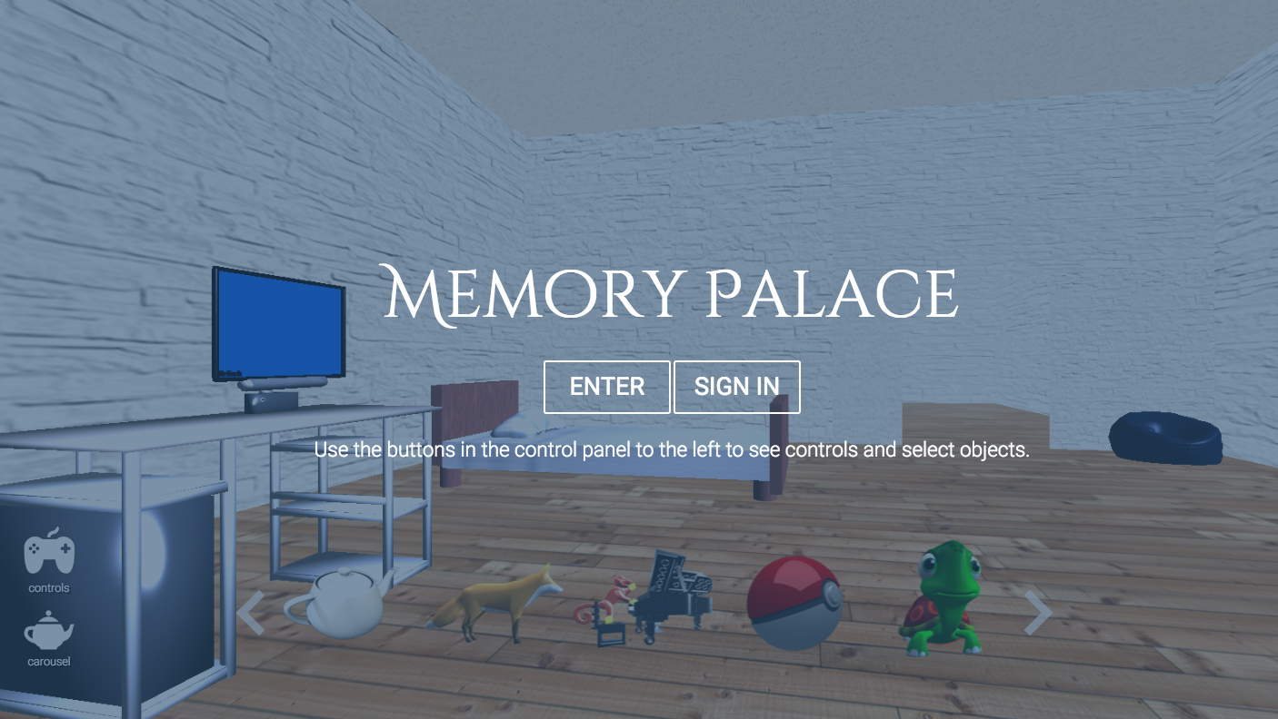 Palace of Memory: a description of the method for memorizing 72