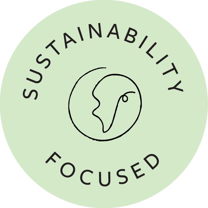 Sustainability focused badge