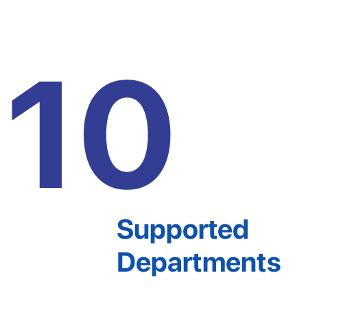 10 Supported Departments