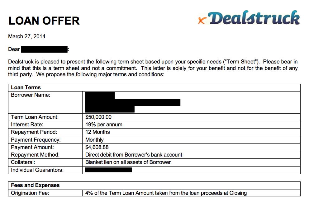 Decoding a Loan Offer from DealStruck Part 2 | Nav