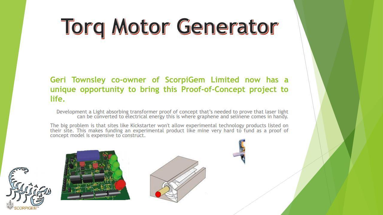 Scorpigem Business Startup Fundly Motor Generator Project