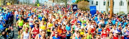 Image of runners from boston marathon website