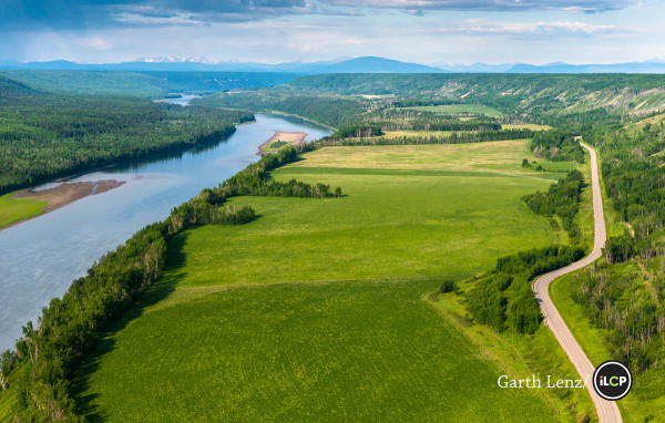 The south facing slopes along the Peace River are some of the most fertile agricultural land in the north.
