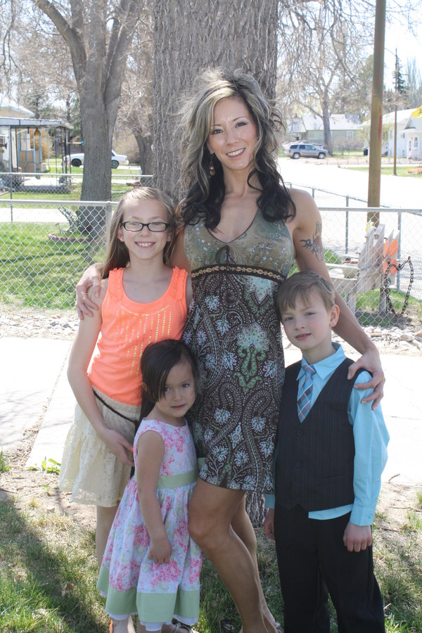 3 of my six kids this past Easter. My cheerleaders!