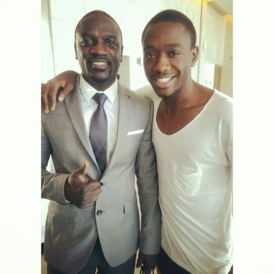 Armel with Akon in Dakar a few week ago