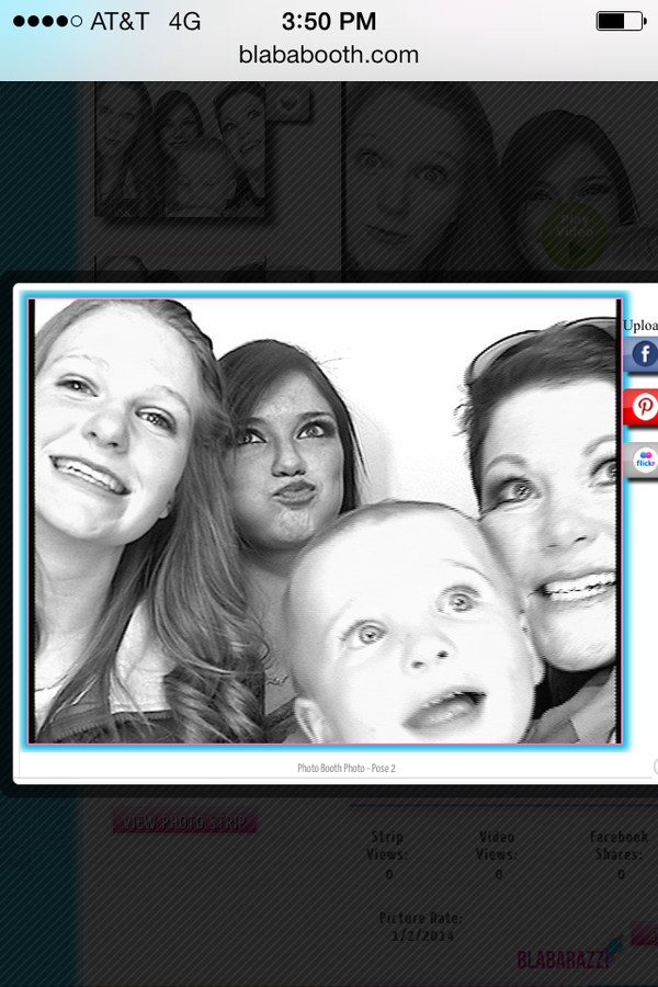 The kids & I having photo booth fun!