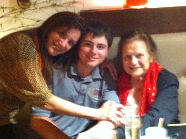 Antonio Sirianni with Mom and Grandma