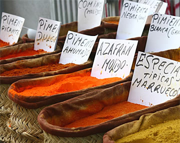 Spanish Paprika marketplace