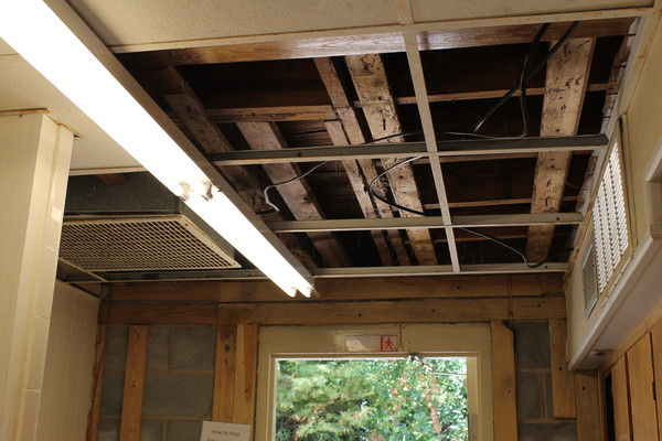 Previous water damage to the roof