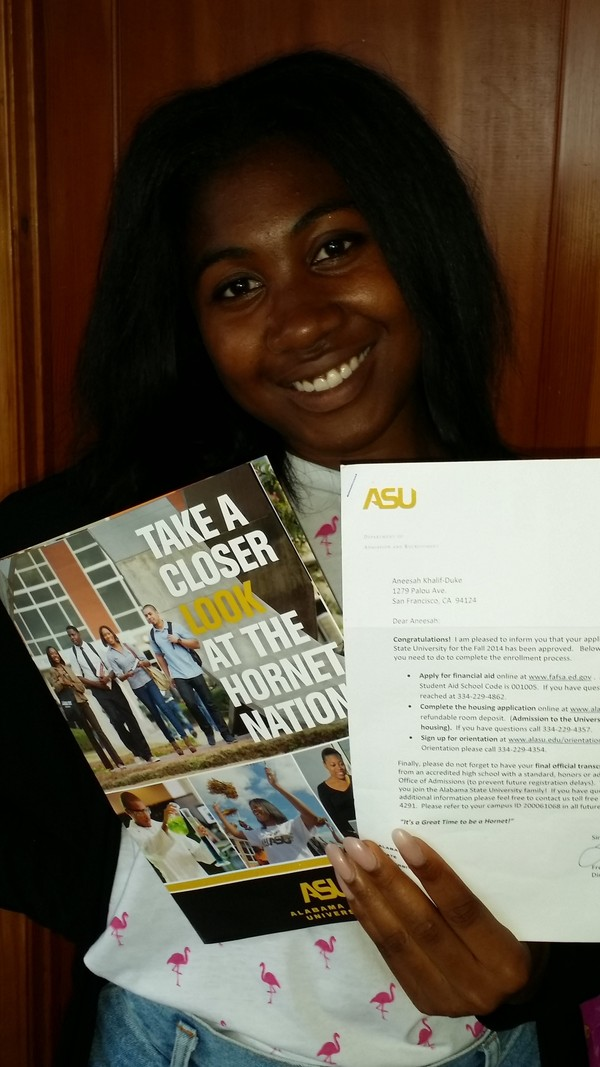 I'm going to Alabama State