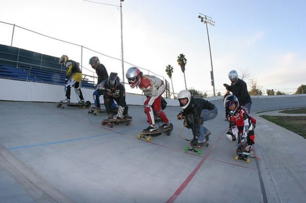 Powered Skateboard Races!