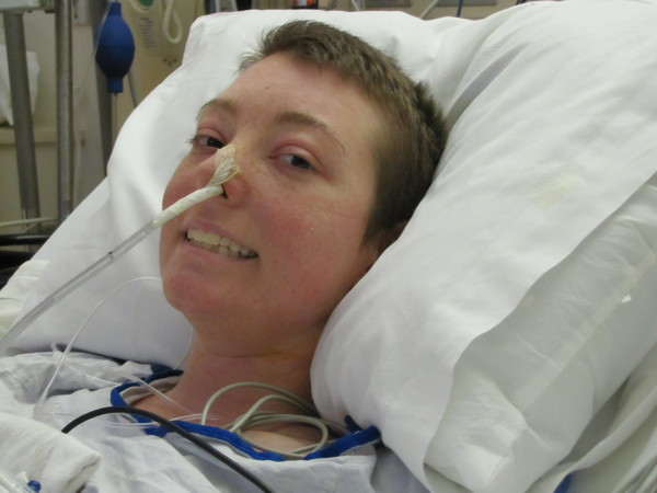Jennifer after her first surgery in 2009