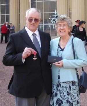 John Holt receiving his MBE