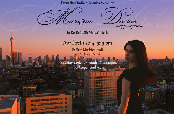 Poster for my third year recital (2014).