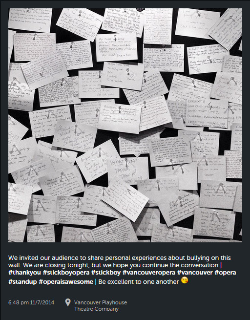 Instagram - wall of testimonies