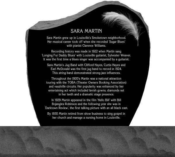 Sara Martin Headstone - Back View