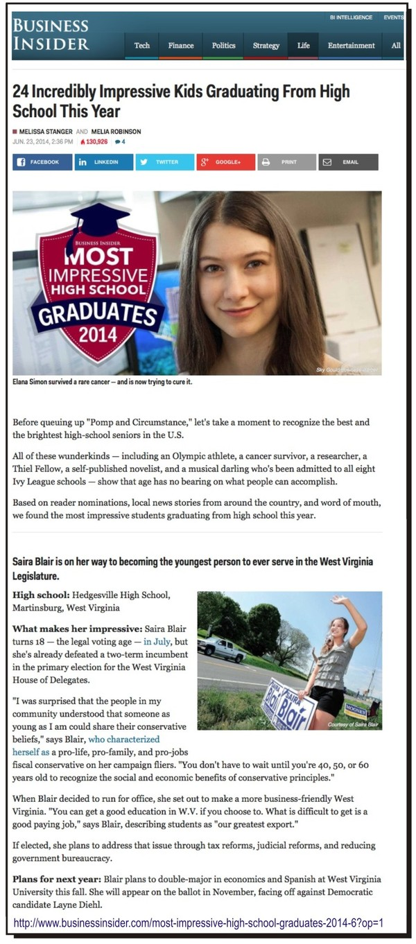 Business Insider's 2014 Most Impressive High School Graduates