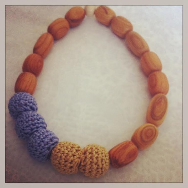 handmade nursing/teething necklace