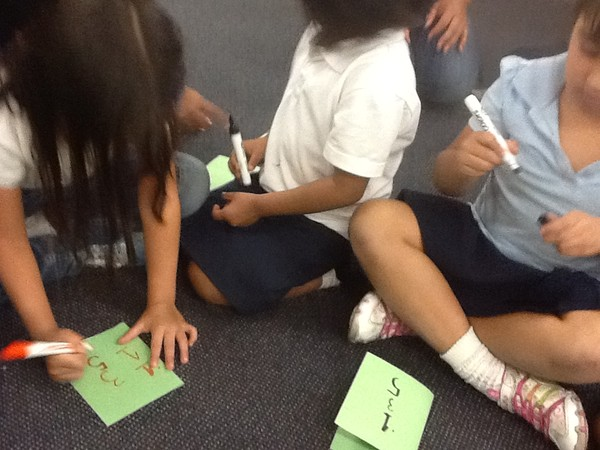 Math games with first graders at my Common Core Games Workshop.