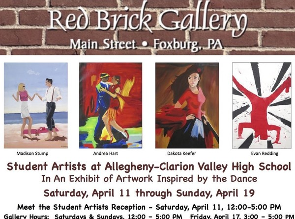 Red Brick Gallery postcard -paintings