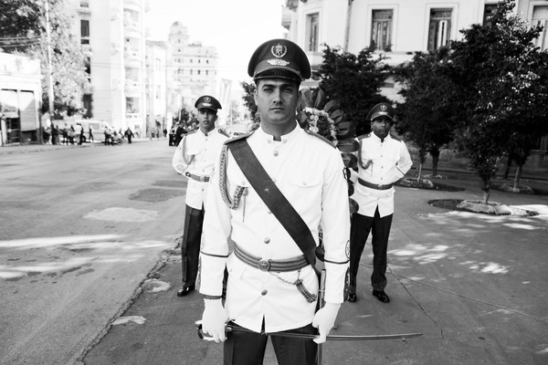 National Guards at a commemoration for revolutionary heroes in Havana. Foto: Jan-Joseph Stok