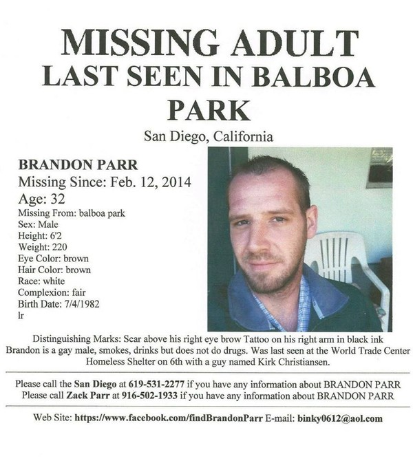 Brandon's missing persons flyer -- please print and post in San Diego if you can