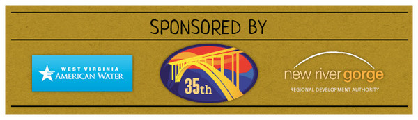 We Love Rivers West Virginia is sponsored by West Virginia American Water, the New River Gorge Regional Development Authority and Bridge Day.