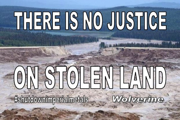 No Justice on Stolen Land