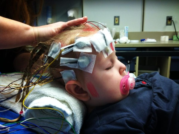 One of many eeg tests.