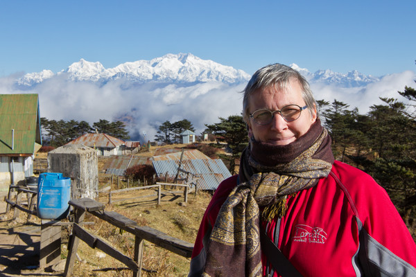 A geographer in heaven...in front of the Himalayas!