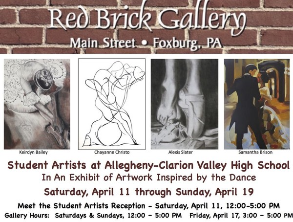 Red Brick Exhibit postcard-charcoals