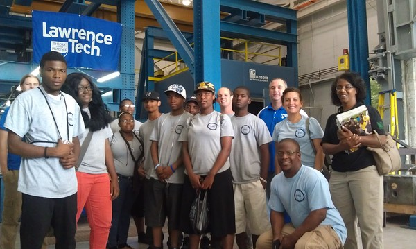 2012 Summer Crew Members Tour of Lawrence Tech University
