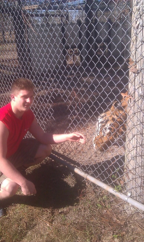Brennan and his pet tiger, Raja