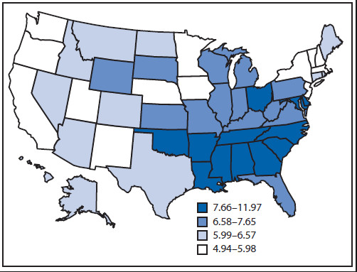 CDC Infant Mortality Statewide