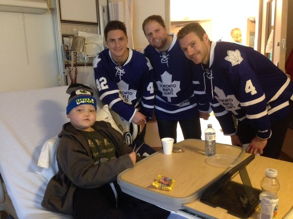Liam meets the Maple Leafs!