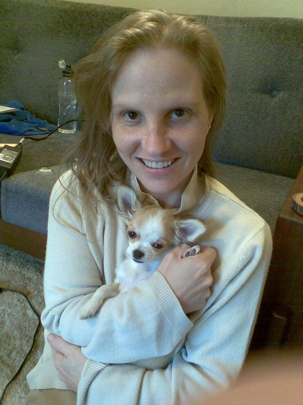 Me and our Chihuahua Sokkies