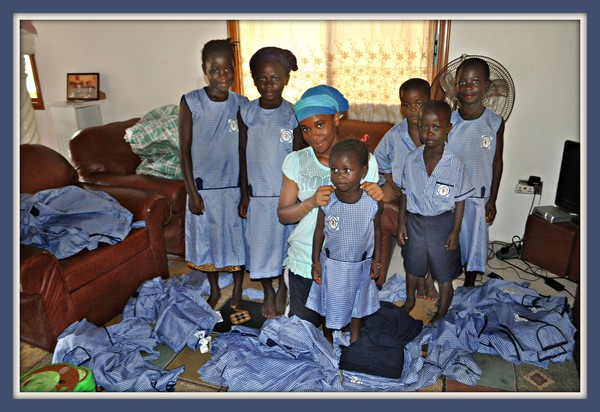 Finished uniforms being distributed