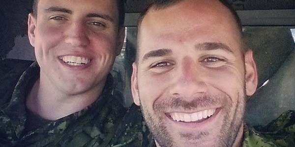 Brandon Stevenson and Nathan Cirillo in a Facebook photo.