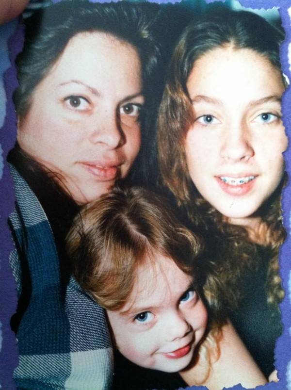 Mom, me, and my sister (younger years)
