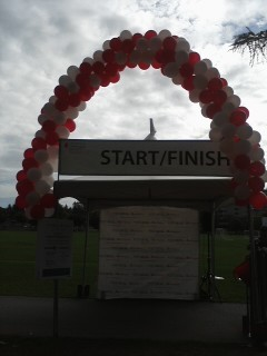 My Balloon Arch at Light The Night Walk