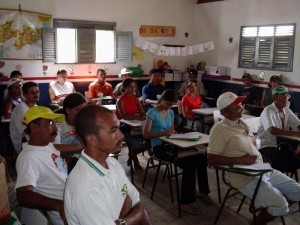 Grouo of rural residents at school - Cuite