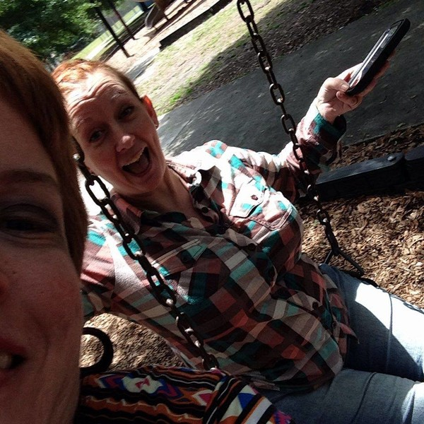 Always laughing, smiling, and enjoying life, no matter what! Even if it's just swinging!